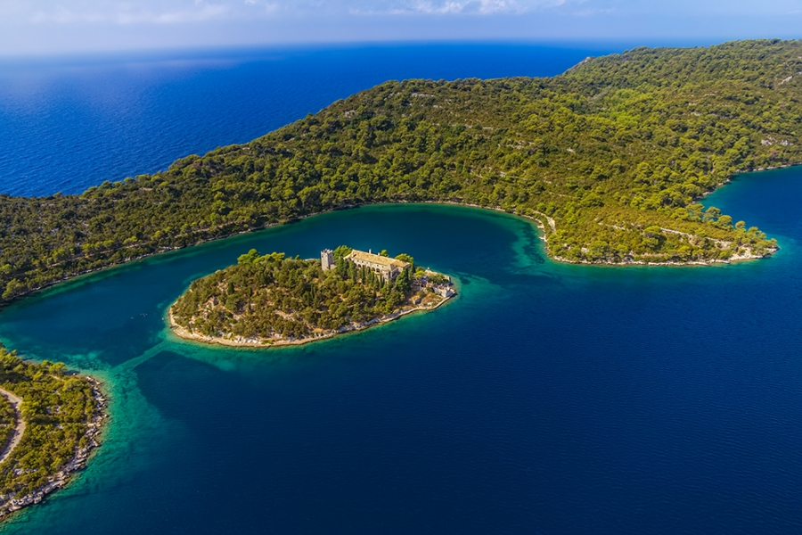 Mljet island National park by private motorboat