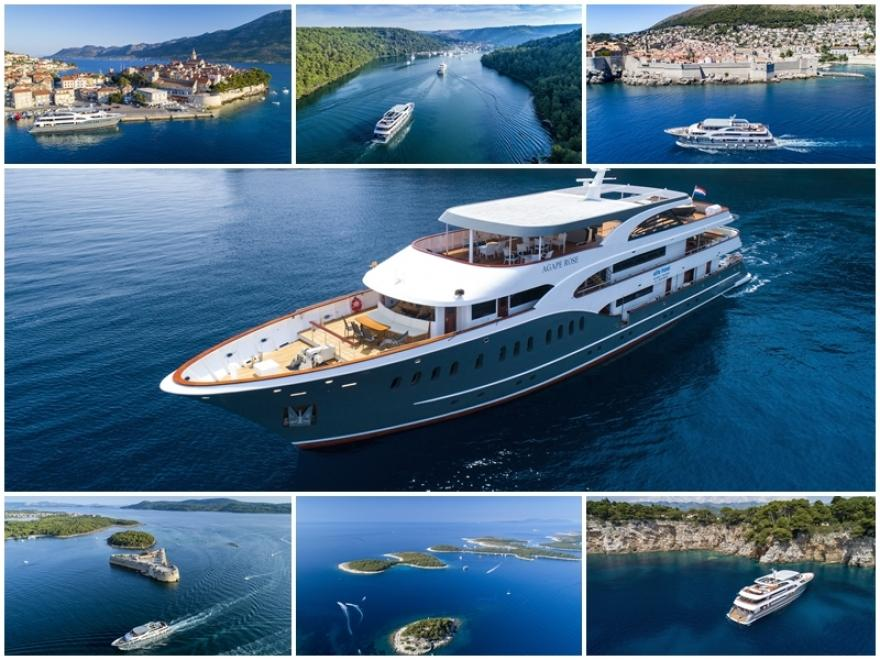 HIGHLIGHTS OF SOUTH ADRIATIC Cruise by Agape Rose 2019 - from Omis